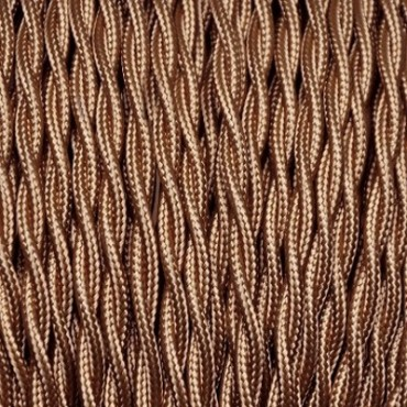 Câble Textile Torsadé Or Foncé
