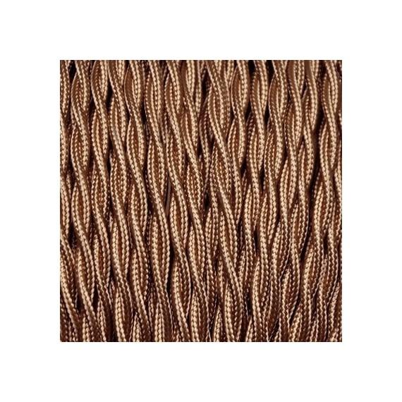 Câbles Textiles Câble Textile Torsadé Cognac