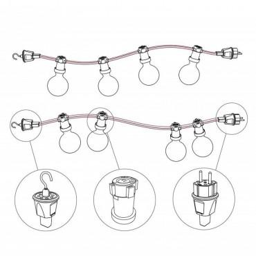 Crochet Guirlande LND pour câble plat Guirlandes 8,80€