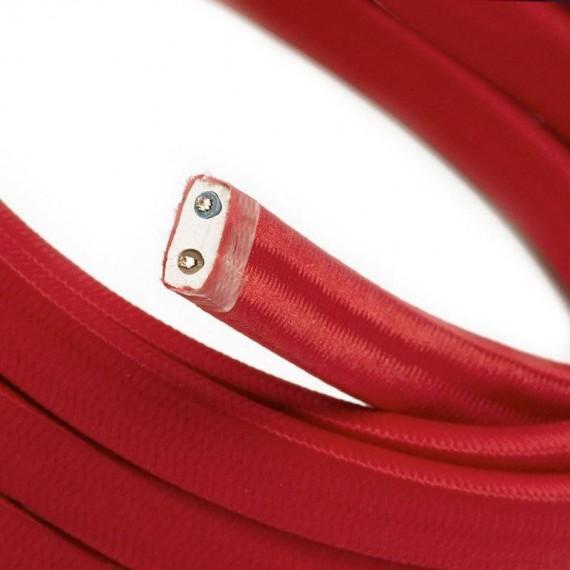 Câble Textile plat rouge 2x1.5mm2 pour Guirlande LnD Guirlandes 4,17€