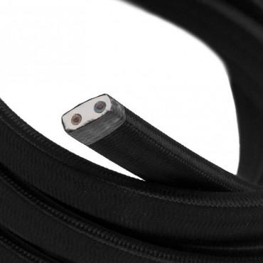 Câble Textile plat 2x1.5mm2 noir pour Guirlande LnD Guirlandes 4,17€
