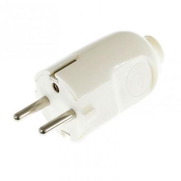 Fiche mâle ronde blanche - type schuko Fiches et interrupteurs 3,33€