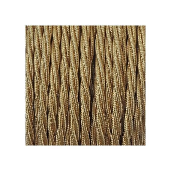 Câble Textile Torsadé Or 3 fils Fil électrique tissu torsadé 3x0.75 mm² 3,33€