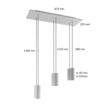 Suspension Extra Large 6 lampes Suspensions 320,00€