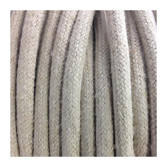 Câble Textile Lin Beige clair Fil électrique tissu câble rond 2x0.75 mm² 2,08€