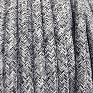 Câble Textile Lin Gris Fil électrique tissu câble rond 2x0.75 mm² 2,08€