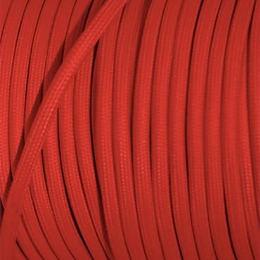 Fil électrique tissu plat rouge - 2x0.75mm2 Fil électrique tissu - câble plat 2x0.75mm2 2,92€