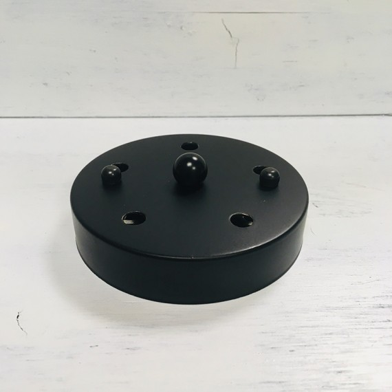 Rosace Métal Noire 5 sorties - 120mm Composants 9,08€