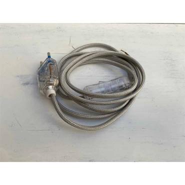 KIT fil électrique tissu argent 180 Prêts à l'emploi 10,83€