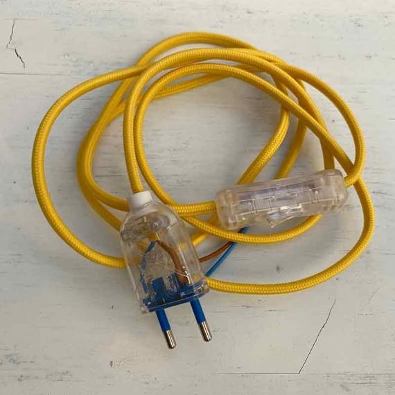 KIT fil électrique tissu jaune 180 Prêts à l'emploi 10,83€