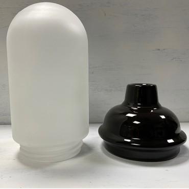 Lampe Suspension Porcelaine Noire - verre dépoli Abat-jours 48,00€