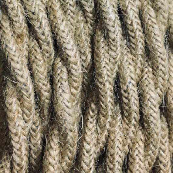 Câble Textile Torsadé Toile de Jute - fil électrique tissu 3x1.5mm2 Fil électrique - câble textile grande section 4,17€