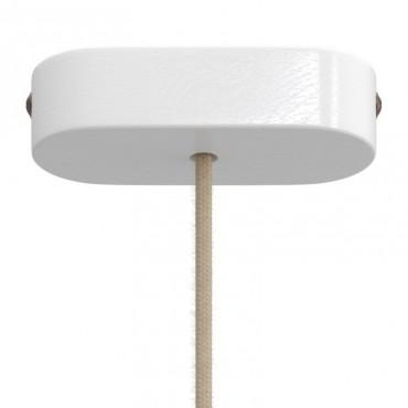 Rosace bois ovale - blanc Rosaces métal et bois 12,50€