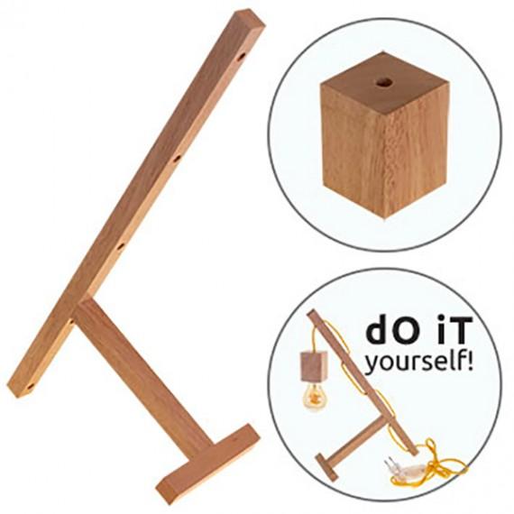 Base pour création de lampe de table - bois Kits à monter 20,00€