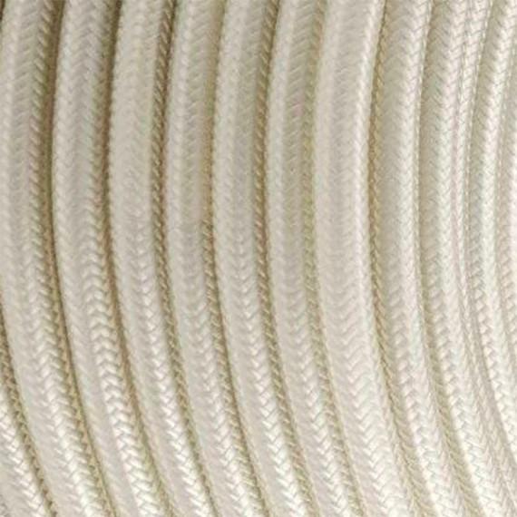 Câble Textile Blanc Cassé Fil électrique tissu câble rond 2x0.75 mm² 2,33€