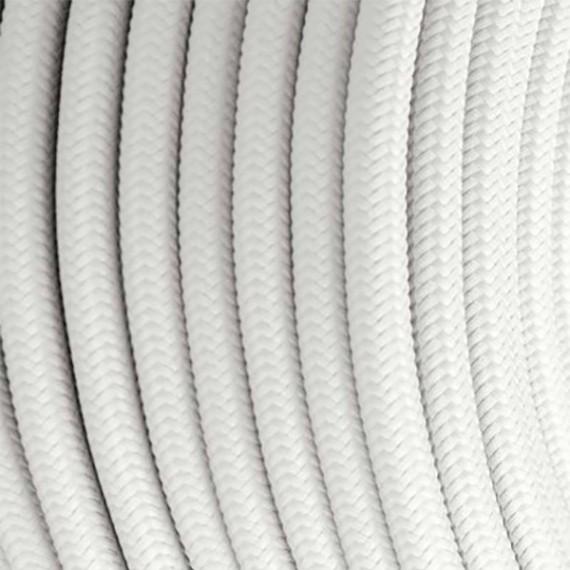 Câble Textile Blanc Fil électrique tissu câble rond 2x0.75 mm² 2,33€