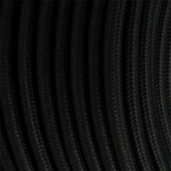 Câble Textile Noir Fil électrique tissu câble rond 2x0.75 mm² 2,33€