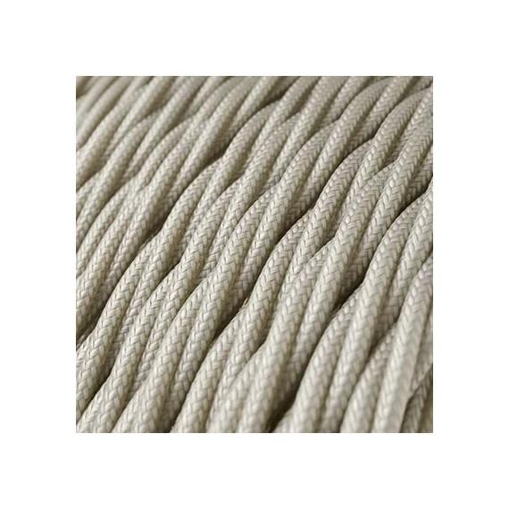 Câble Textile Torsadé Blanc Cassé Fil électrique tissu torsadé 2x0.75 mm² 2,58€