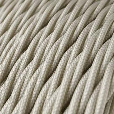 Textile Torsadé Blanc Cassé 3 fils Fil électrique tissu torsadé 3x0.75 mm² 3,33€