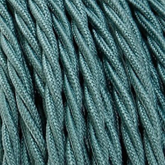 Fil électrique tissu torsadé vert sauge 2x0.75mm2 Fil électrique tissu torsadé 2x0.75 mm² 2,58€