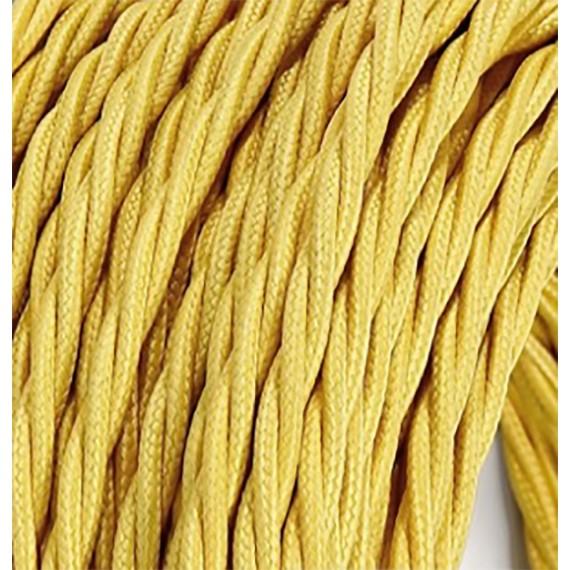 Fil électrique tissu torsadé jaune 2x0.75mm2 Fil électrique tissu torsadé 2x0.75 mm² 2,58€