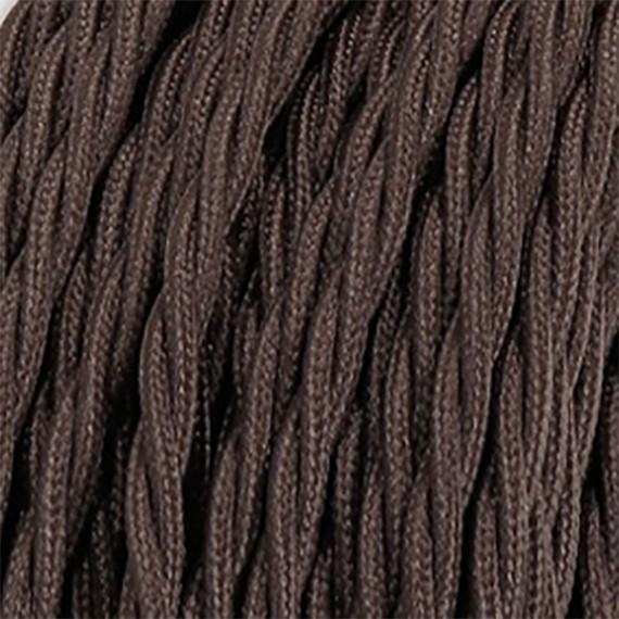 Fil électrique tissu torsadé brun 2x0.75mm2 Fil électrique tissu torsadé 2x0.75 mm² 2,58€