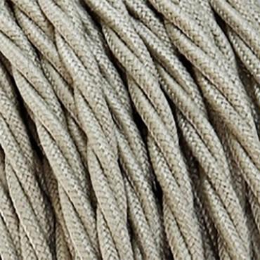Fil électrique tissu torsadé sable 2x0.75mm2 Fil électrique tissu torsadé 2x0.75 mm² 2,58€