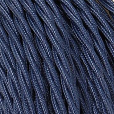 Fil électrique tissu torsadé bleu abysse 2x0.75mm2 Fil électrique tissu torsadé 2x0.75 mm² 2,58€