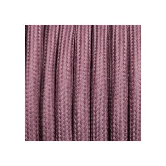 Câble Textile Rose Vieilli
