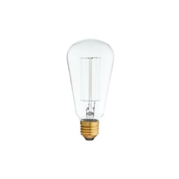 Ampoule Edison Filaments Droits ST64 60W E27 Ampoules 5,42€