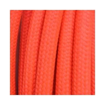 Câble Textile Fluo Rose Fil électrique tissu câble rond 2x0.75 mm² 2,33€