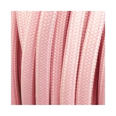 Câble Textile Rose Pastel Fil électrique tissu câble rond 2x0.75 mm² 2,33€