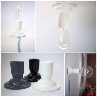 Lampe Manufacture Porcelaine Blanche Concept Store 20,75€