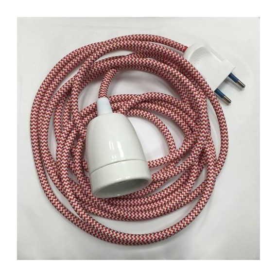 Baladeuse Zébrée rouge et blanc - procelaine Concept Store 22,42€