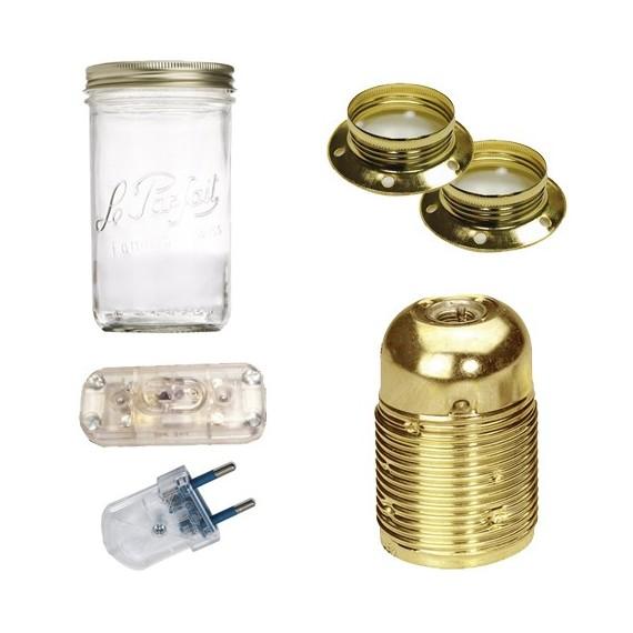 Kit lampe bocal Prêts à l'emploi 20,75€