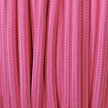 Câble Textile Rose Fil électrique tissu câble rond 2x0.75 mm² 2,33€