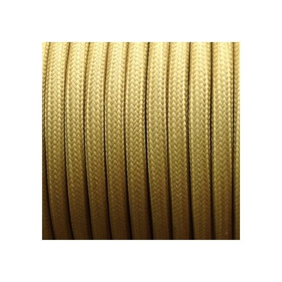 Câble Textile Moutarde Fil électrique tissu câble rond 2x0.75 mm² 2,33€