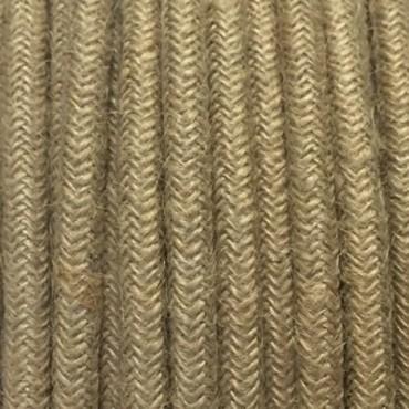 Câble Textile en toile de Jute Fil électrique tissu câble rond 2x0.75 mm² 2,08€