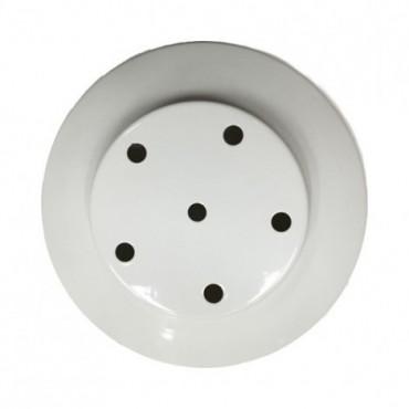 Rosace blanche 5 sorties 200mm Composants 14,08€