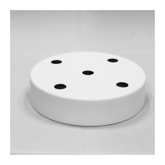 Rosace Métal Blanc 5 sorties Composants 7,42€