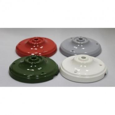 Rosace Porcelaine Rouge Composants 8,25€