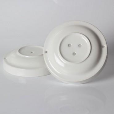 Rosace porcelaine blanche 3 sorties Composants 20,00€