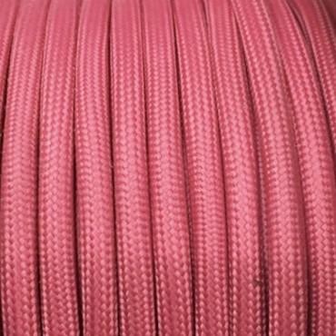 Câble Textile Framboise Fil électrique tissu câble rond 2x0.75 mm² 2,33€