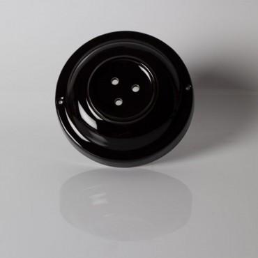 Rosace porcelaine noire 3 sorties Composants 20,00€
