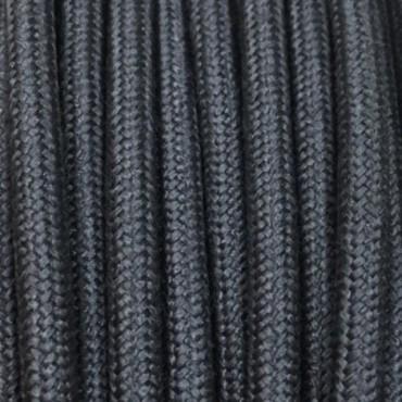 Câble Textile Lin Gris Ardoise Fil électrique tissu câble rond 2x0.75 mm² 2,08€