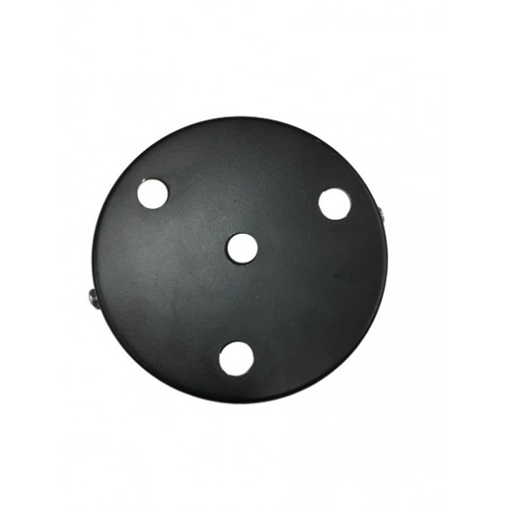 Rosace Metal Noir 4 sorties Composants 7,42€