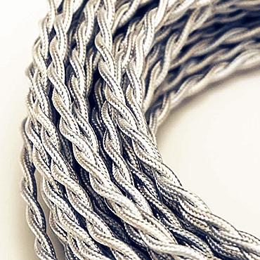 Fil électrique tissu torsadé 2x0.75 mm²